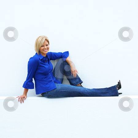 cutcaster photo 100553067 Casual Mature Woman Casual Mature Woman stock photo, Beautiful mature women relaxing in casual ...