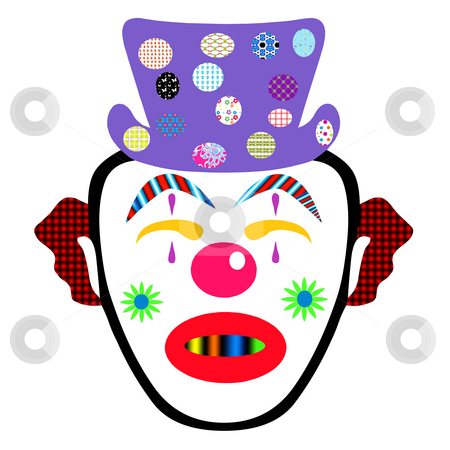 Clown stock photo, Funny faced clown by CHERYL LAFOND