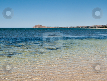 Beach at Granite Island near Victor Harbor stock photo, Broad beach and sea scene at Granite Island near Victor Harbor near Adelaide in Australia by Steven Heap