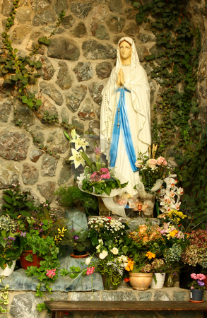 Virgin Mary grotto stock photo, A grotto of the blessed virgin Mary by Borislav Marinic