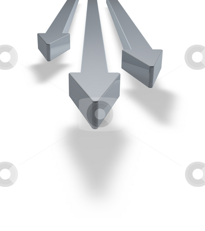 Arrows stock photo, Three arrows on white background - 3d illustration by J?
