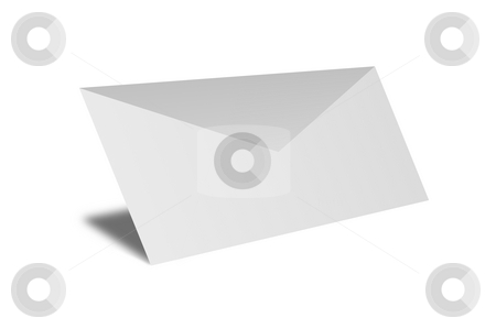 Envelope stock photo, Black and white envelope on clear background by Henrik Lehnerer