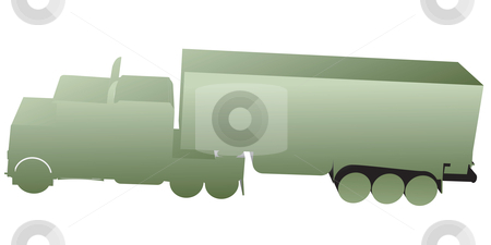 3D truck, toy silhouettes stock vector clipart, 3D truck, toy silhouettes isolated on white by Richard Laschon