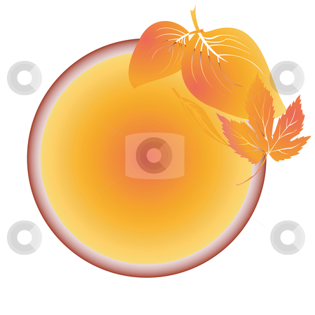 Autumn leaves medalion stock vector clipart, Autumn leaves medalion, vector art sticker by Richard Laschon