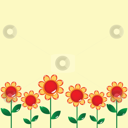 Floral card design stock vector clipart, Floral card design by Richard Laschon