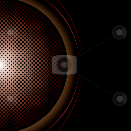 Round halftone background stock vector clipart, Abstract halftone background image with room to add text by Michael Travers
