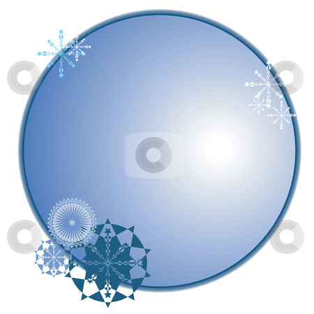 Winter sticker stock vector clipart, Winter sticker/medallion, vector background by Richard Laschon