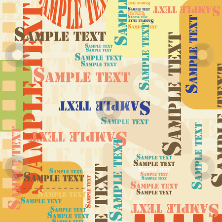 Sample text stock vector clipart, Sample text background by Richard Laschon