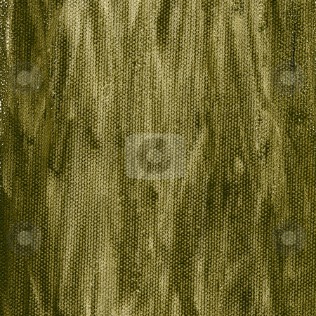 Grunge green brown canvas background stock photo, Grunge watercolor abstract on artist canvas with a coarse texture, self made by photographer by Marek Uliasz