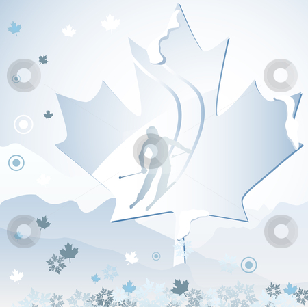 Canada Winter Games stock vector clipart, Canada Vancouver Winter Games 2010. Editable Vector Illustration by AUGUSTO CABRAL