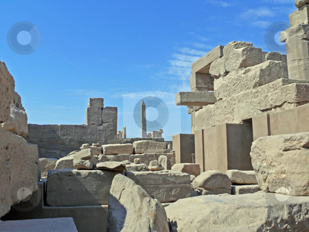 Ruins temple Karnak stock photo, Ruins of a temple Karnak in Luxor by Vadim Tsyba