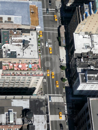 New york streets stock photo, New york city streets, sky view by Laurent Davoust