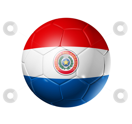 With paraguay flag stock photo 3d soccer ball with paraguay team flag