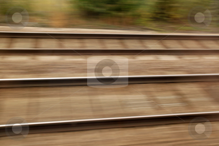 Railway track high speed blur background stock photo, Railway track high speed blur background by Stephen Rees