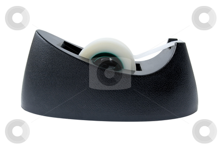 Adhesive tape dispenser stock photo, Adhesive tape dispenser isolated on white background by Laurent Davoust