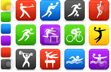 Sports icon collection stock vector clipart, Original vector illustration: sports icon collection by L Belomlinsky