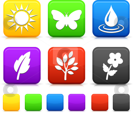 Nature Environment icons on *
