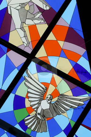 Holy Spirit stock photo, Holy Spirit Bird, stained glass by Zvonimir Atletic