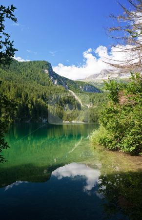 Tovel lake, Trentino, Italy stock photo, Summer view of a beautiful lake in Italian alps by ANTONIO SCARPI