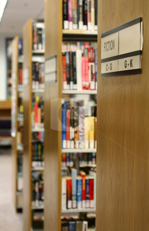 Library stock photo, Bookshelves in library by Suprijono Suharjoto