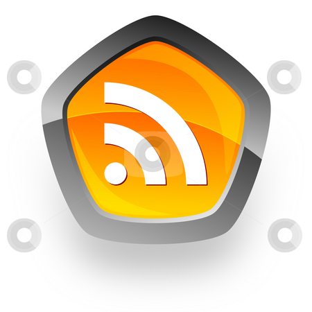 Rss internet icon stock photo, Rss internet icon by Tomasz Kaczmarek