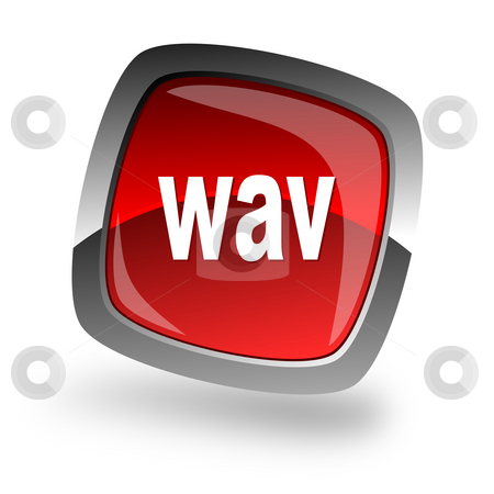 Wav file internet icon stock photo, Wav file internet icon by Tomasz Kaczmarek