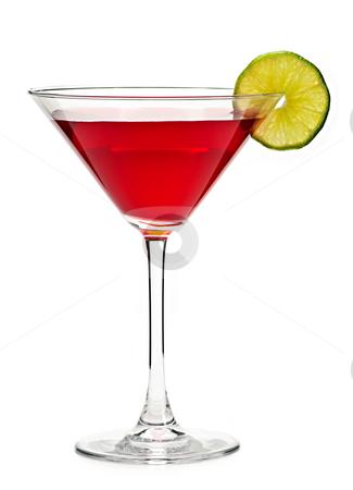 Cosmopolitan cocktail drink stock photo, Cosmopolitan cocktail drink isolated on white background by Elena Elisseeva