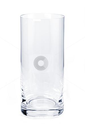 Empty tumbler glass stock photo, Single empty tumbler glass isolated on white background by Elena Elisseeva