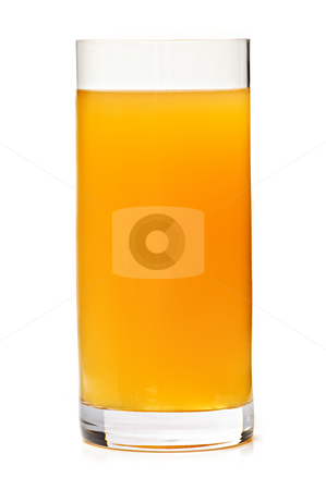 Apple juice in glass stock photo, Apple juice in clear glass isolated on white background by Elena Elisseeva
