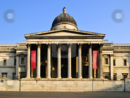 National Gallery building in London stock photo, Entrance to National Gallery building in London England by Elena Elisseeva