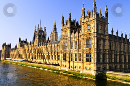 Palace of Westminster stock photo, Houses of Parliament on Thames river in London by Elena Elisseeva