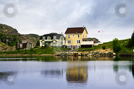 Fishing village in Newfoundland stock photo, Quaint seaside fishing village in Newfoundland Canada by Elena Elisseeva