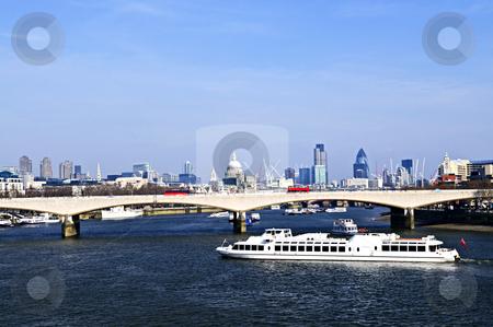 Waterloo Bridge in London stock photo, Waterloo bridge in London England with skyline by Elena Elisseeva