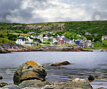 Fishing village in Newfoundland stock photo, Quaint seaside fishing village in Newfoundland Canada by Elena Elisseeva