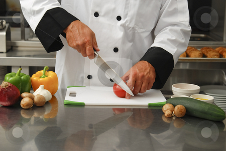 Chef Chopping Vegetables images