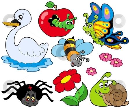 Small animals collection 9 stock vector clipart, Small animals collection 9 - vector illustration. by Klara Viskova