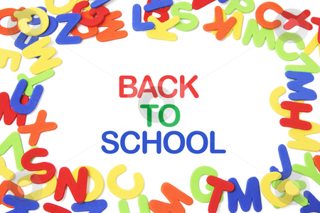 Back to School and Alphabets stock photo, Back to School and Alphabets on White Background by Lai Leng Yiap