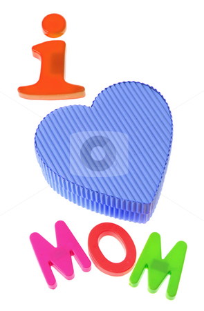 Mom and Gift Box stock photo, Mom and Gift Box on White Background by Lai Leng Yiap