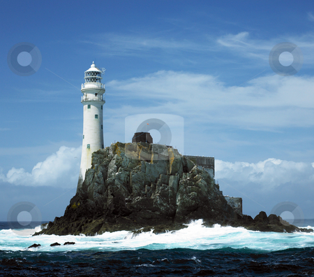 Lighthouse, Fastnet Rock, County Cork, Ireland stock photo, Lighthouse, Fastnet Rock, County Cork, Ireland by Richard Semik