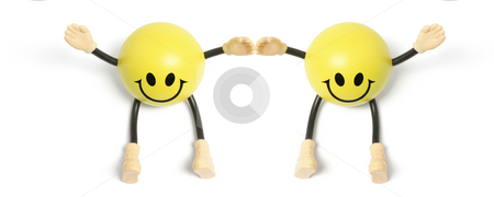 Smileys stock photo, Smileys on Isolated White Background by Lai Leng Yiap