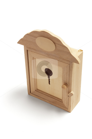 House Shape Key Box stock photo, House Shape Key Box on White Background by Lai Leng Yiap