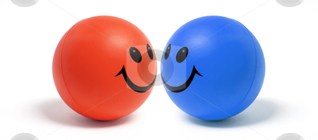 Smiley Ball stock photo, Smiley Ball on White Background by Lai Leng Yiap