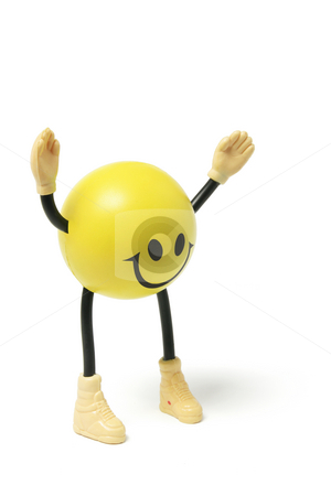 Smiley Toy stock photo, Smiley Toy on Isolated White Background by Lai Leng Yiap