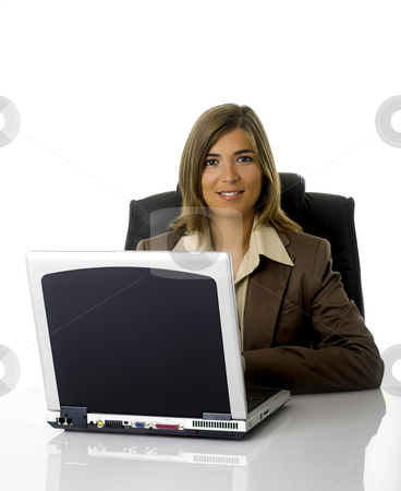Business woman stock photo, Business woman working in the office by ikostudio