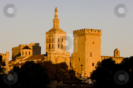 Avignon, Provence, France stock photo, Palace of the Popes, Avignon, Provence, France by Richard Semik