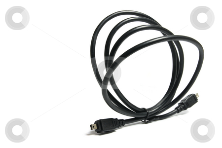 FireWire Cable stock photo, FireWire Cable on Isolated White Background by Lai Leng Yiap