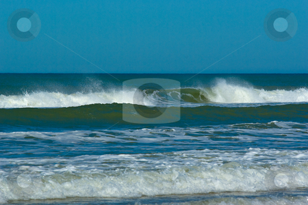 Brandung am Atlantik - Waves at the atlantiv acean stock photo,  by Wolfgang Heidasch