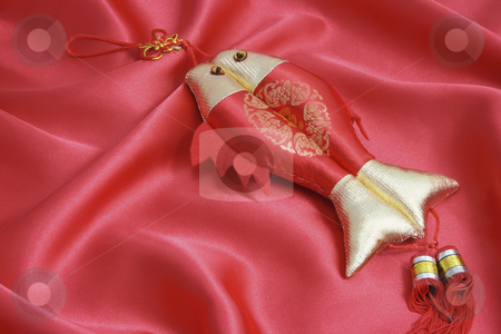 Chinese New Year Decoration stock photo, Chinese New Year Decoration on Red Velvet by Lai Leng Yiap