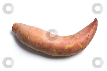 Sweet Potato stock photo, Sweet Potato on Isolated White Background by Lai Leng Yiap