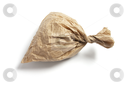 Crumpled Brown Paper Bag